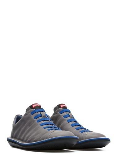 Camper %100 Deri Bağcıklı Ayakkabı Füme